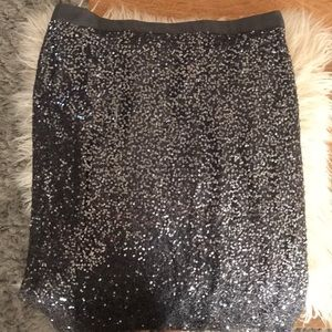 J crew sequin skirt